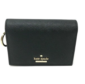 Kate Spade Kate Spade Cameron Street Gabe Black Leather ID Wallet With Key Ring
