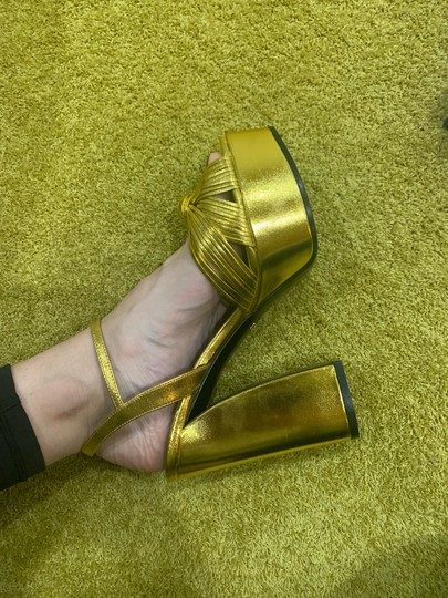 Gucci gold Wedges