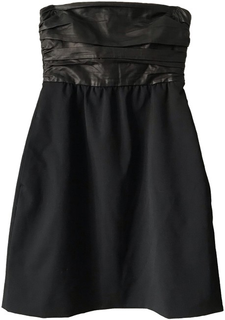 Preload https://img-static.tradesy.com/item/24888063/theory-black-leather-bodice-short-night-out-dress-size-2-xs-0-1-650-650.jpg