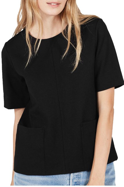 Preload https://img-static.tradesy.com/item/24888138/everlane-black-ponte-sleeve-tee-shirt-size-4-s-0-1-650-650.jpg