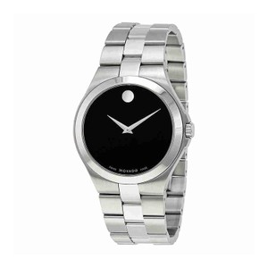 Movado MOVADO Men's Black Dial Stainless Steel Watch 0606555