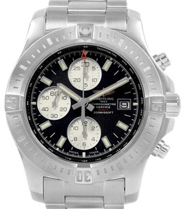 Breitling Breitling Colt Black Dial Stainless Steel Mens Watch A13388 Box Papers