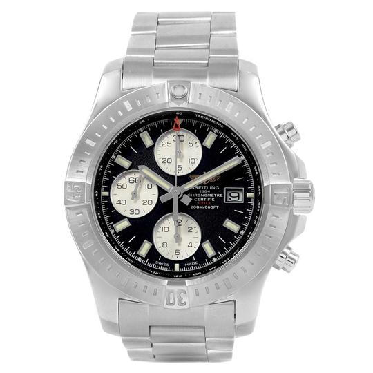Breitling Breitling Colt Black Dial Stainless Steel Mens Watch A13388 Box Papers Image 1