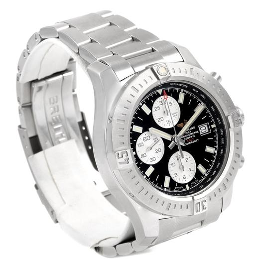 Breitling Breitling Colt Black Dial Stainless Steel Mens Watch A13388 Box Papers Image 2