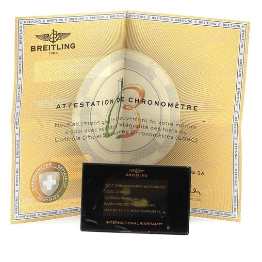 Breitling Breitling Colt Black Dial Stainless Steel Mens Watch A13388 Box Papers Image 9