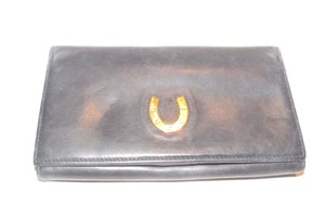 Gucci vintage Gucci leather continental wallet with horseshoe accent