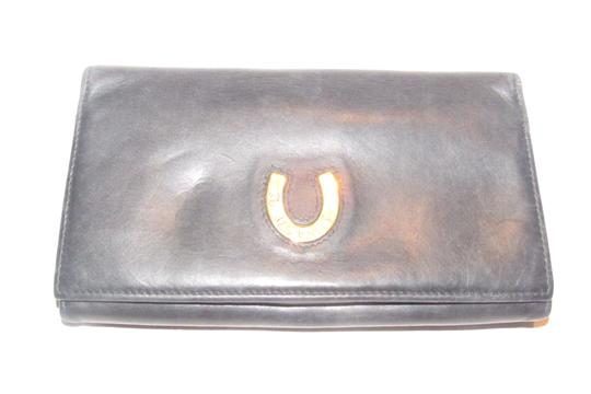 Gucci vintage Gucci leather continental wallet with horseshoe accent Image 6