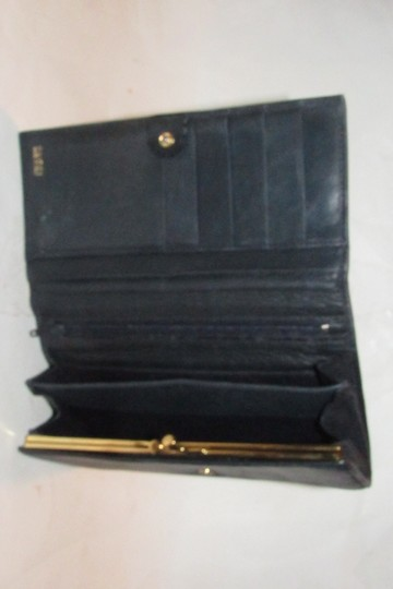 Gucci vintage Gucci leather continental wallet with horseshoe accent Image 7