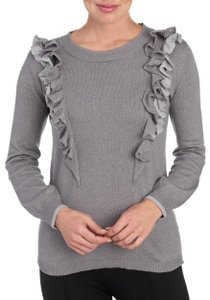 One A Ruffle Layer Cascading Crew Neck Sweater