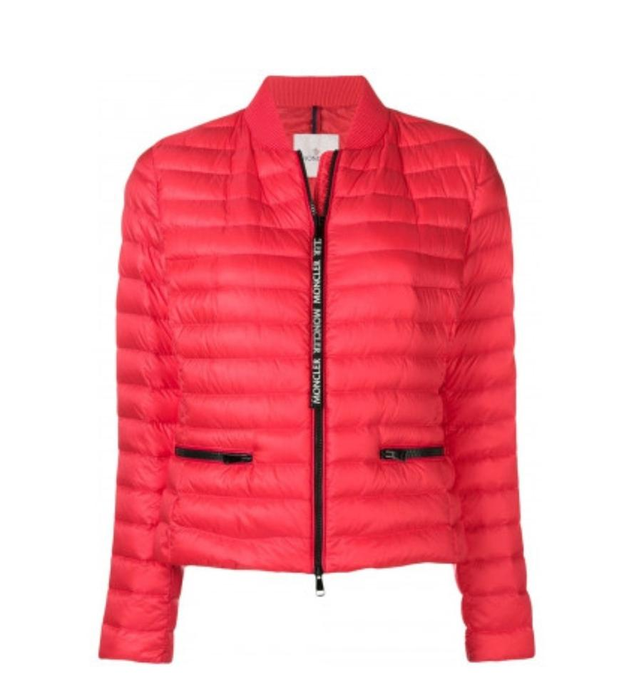 c5d82a26a6c2 Moncler Pink New Down Quilted Blenca Biker Jacket Size 14 (L) - Tradesy