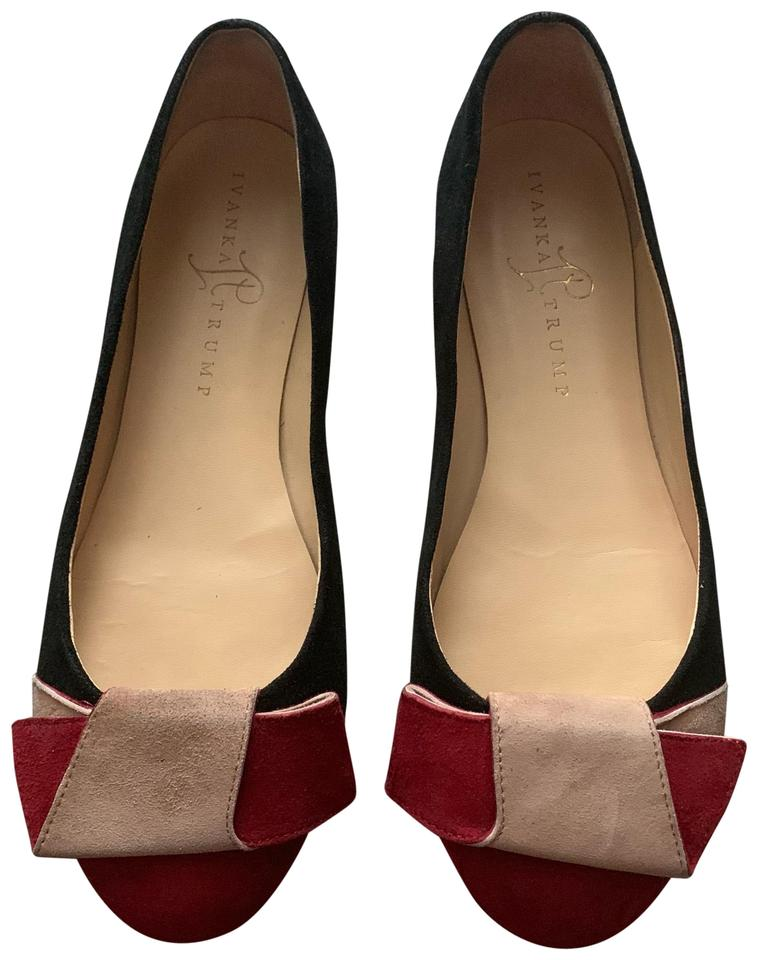 5398a037427 Ivanka Trump Cece Colorblock Suede Bow Flats Size US 7 Regular (M, B) 71%  off retail