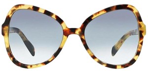 Prada Women Butterfly Acetate Frame with Blue Sunglasses