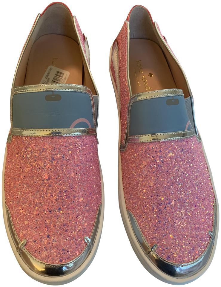 60515166e22f Kate Spade Pink Off We Go Glitter Cadillac Flats Size US 7.5 Regular ...