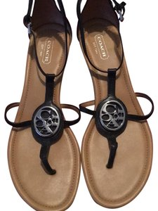 b79e075b605a Black Coach Sandals - Up to 90% off at Tradesy