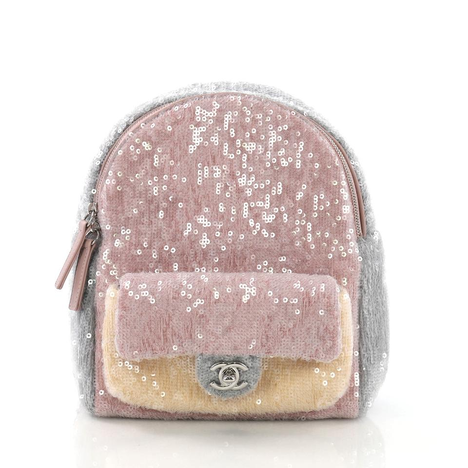 106bc2b6699e Chanel Backpack Waterfall Sequins with Mini Lavender and Gray ...