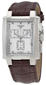 Tissot Classic TXL Chronograph Silver Dial Men's Leather Watch