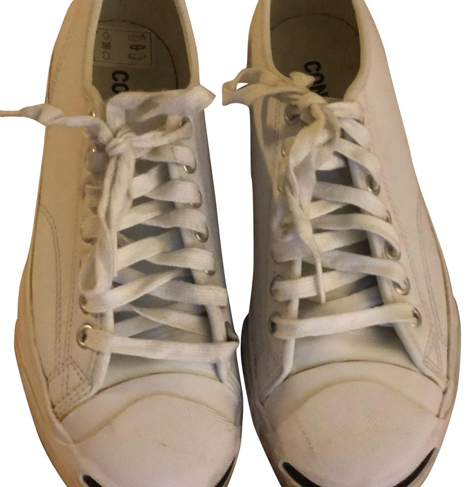 7d3a453c85ba Converse White Jack Purcell Tumbled Leather Sneakers Sneakers. Size  US ...