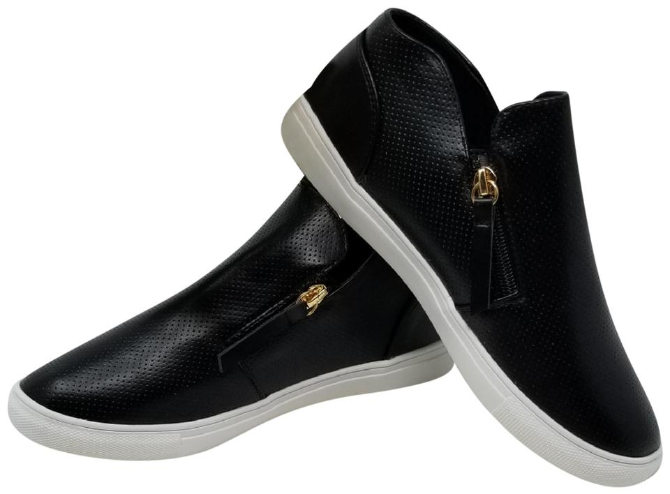 792273c3c47 Forever Young Black Zipper Fashion Sneakers For Women Sn-2808 Sneakers. Size   US 10 Regular (M ...