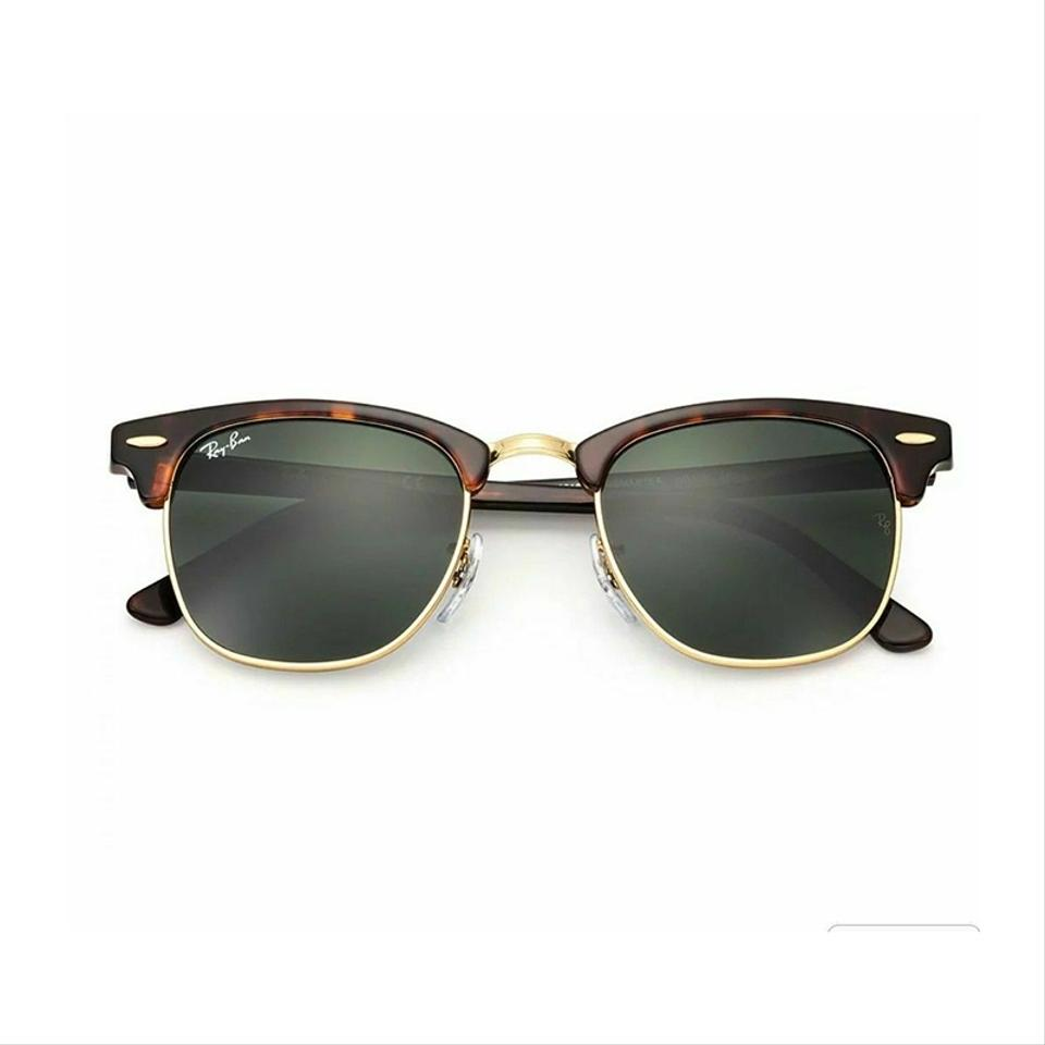 9bee49d99ff Ray-Ban Clubmaster Tortoise Frame   Green Classic G-15 Lens Rb3016 ...
