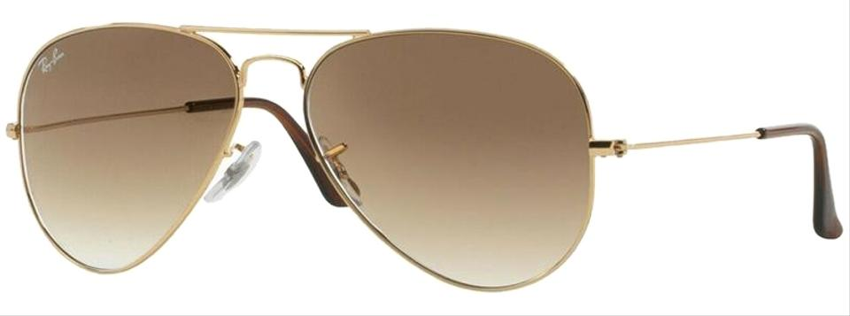 3c02cf6f84 Ray-Ban Gold Frame   Light Brown Gradient Lens Rb3025 001 51 Aviator ...