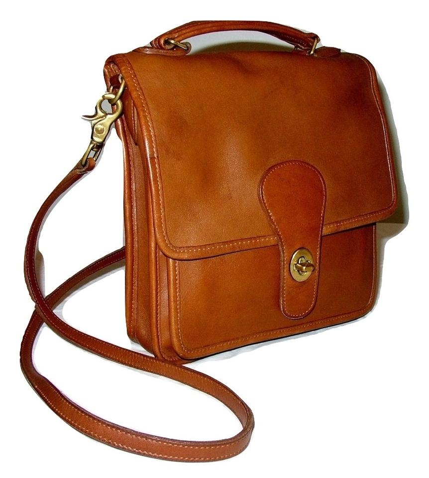 Coach Reconditioned Usa Station  5180 British Tan Glove Leather Cross Body  Bag d27434ee2a255