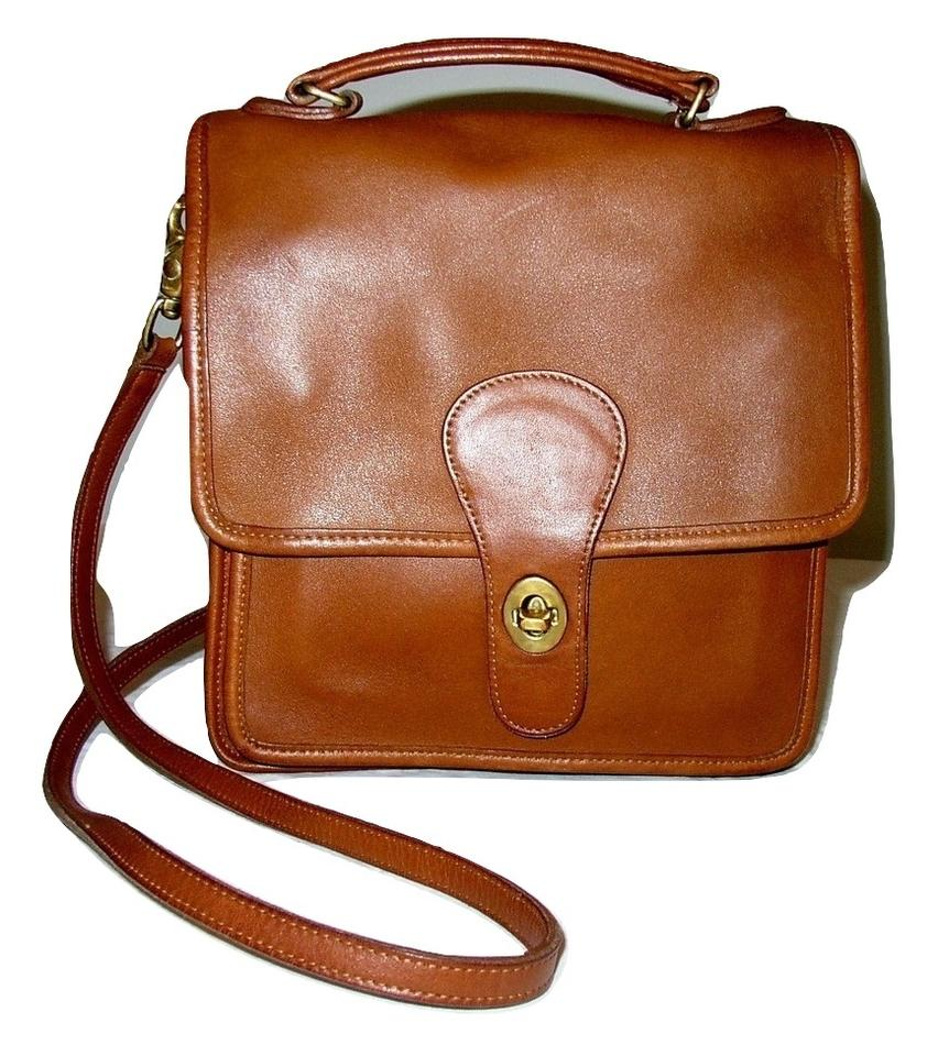 Coach Reconditioned Usa Station  5180 British Tan Glove Leather Cross Body  Bag - Tradesy ce164d535790d