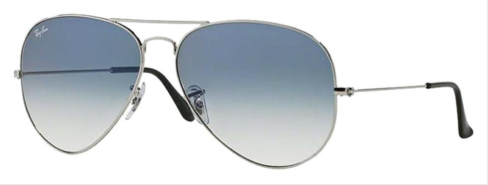 b9bc773b73a Ray-Ban Silver Frame   Light Blue Gradinet Lens Rb3025 003 3f Aviator Style  Unisex Sunglasses