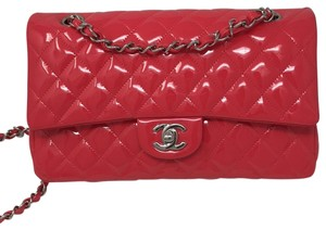 e1df7be208 Chanel Double Flap Patent Leather Flap Double Flap Red Flap Patent Flap  Shoulder Bag