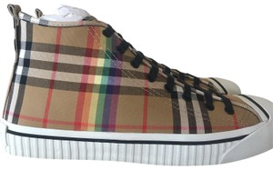 a2724567b26 Burberry Men s Kingly High-top Rainbow Check Sneakers Flats Size US 11  Regular (M