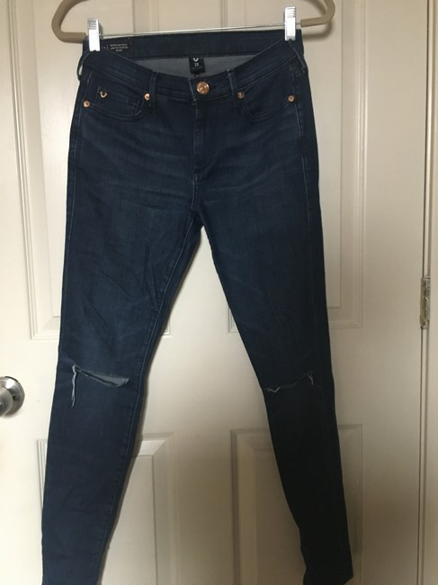 True Religion Super Ripped Knees Skinny Jeans Image 1
