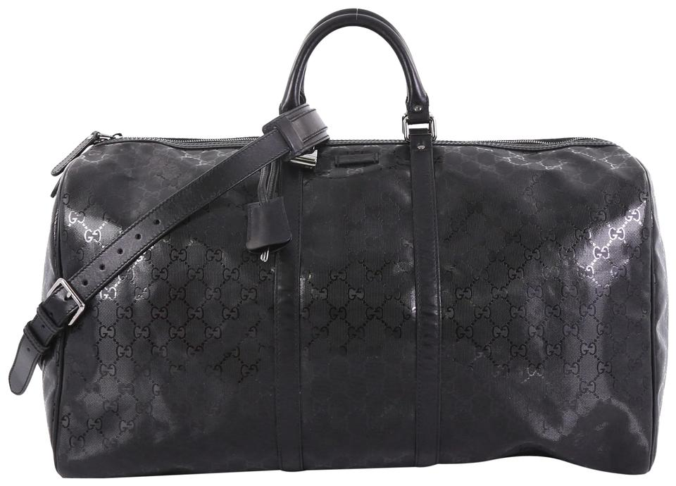 83c255ad3c8 Gucci Carry On Convertible Duffle Gg Imprime Large Black Leather ...