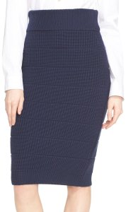 Marc by Marc Jacobs Knit Pencil Sweater Wool Skirt navy blue