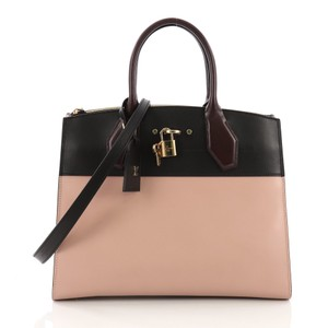 Louis Vuitton Leather Tote in pink and black
