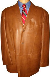 Stafford Leather Men's Brown Blazer