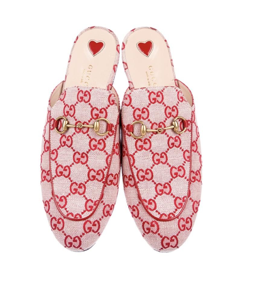 5b25ab2773 Gucci Red Princetown Gg Canvas Mules/Slides Size EU 39.5 (Approx. US 9.5)  Regular (M, B) 10% off retail