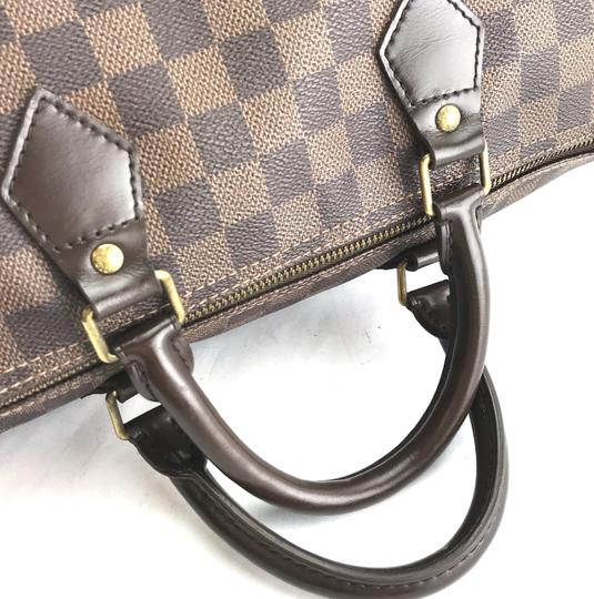 Louis Vuitton Lv Damier Speedy 35 Satchel in Brown Image 10