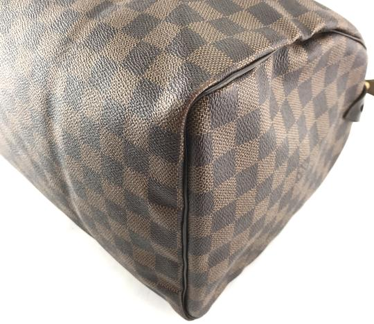 Louis Vuitton Lv Damier Speedy 35 Satchel in Brown Image 8