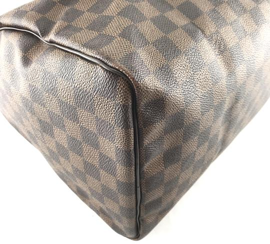 Louis Vuitton Lv Damier Speedy 35 Satchel in Brown Image 9