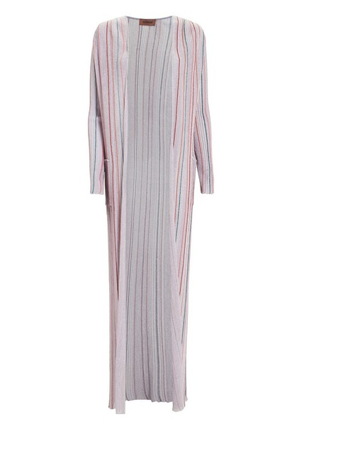 Item - Lilac Lurex Striped Duster Tunic Size 4 (S)