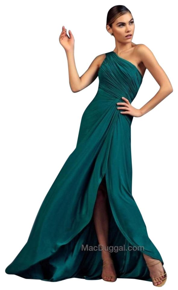 5442da541794 Mac Duggal Couture Navy Blue Midnight Gown Long Formal Dress Size 14 ...