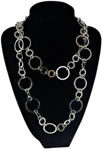 Chico's Chico's Large Circle Chain Long Necklace