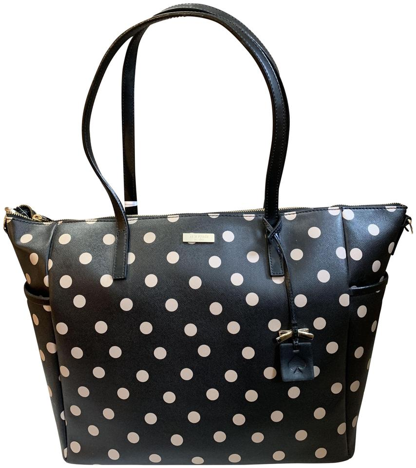 Kate Spade Adaira Polka Dot Diaper Baby Black Bag 49 Off Retail