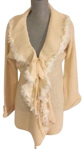 Adrienne Landau Faux Knit Sweater Cardigan