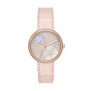Michael Kors NWT Courtney Rose Gold-Tone and Blush Croco Leather watch MK2718