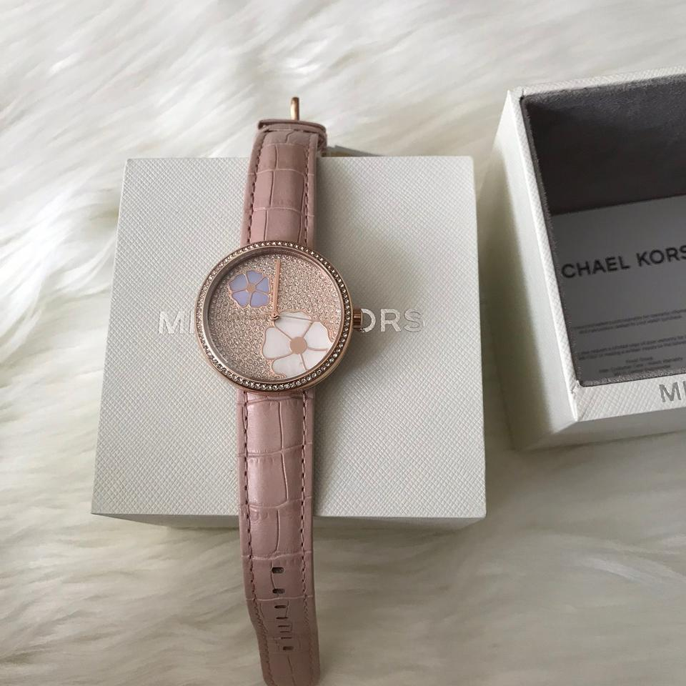 43ab1e8e97f1 Michael Kors NWT Courtney Rose Gold-Tone and Blush Croco Leather watch  MK2718 Image 11. 123456789101112