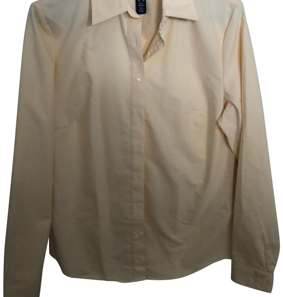 855edef0 Lands' End Golden Yellow Tailored Oxford Button-down Top Size 8 (M ...