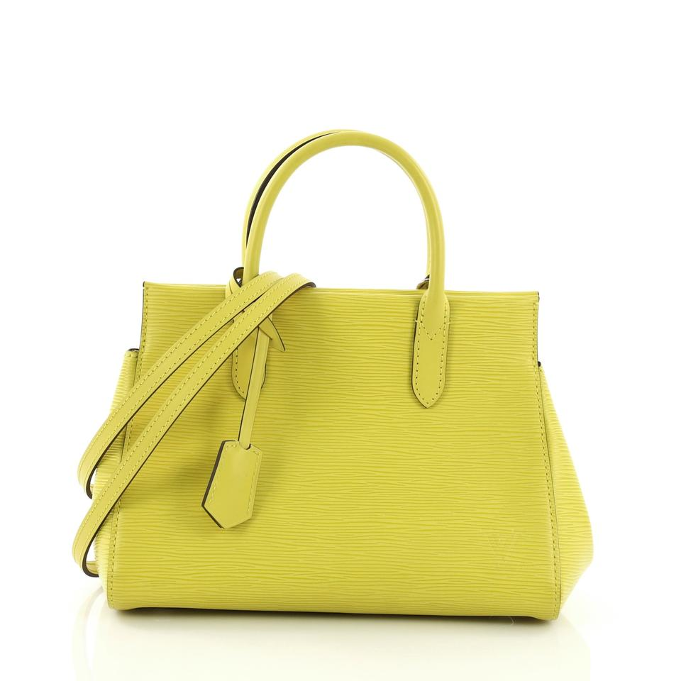 Louis Vuitton Marly Handbag Epi Bb Yellow