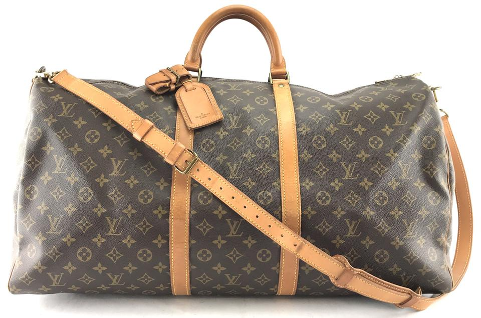 21bb40c38097 Louis Vuitton Keepall 60 Bandouliere Duffle Monogram Travel Bag Image 0 ...