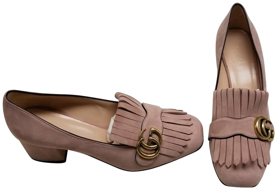17838d009f048e Gucci Pink Marmont Gg Suede Loafer Pumps Size EU 38.5 (Approx. US ...