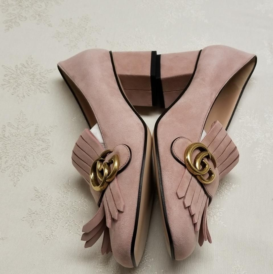 3a9aad9382d1df Gucci Pink Marmont Gg Suede Loafer Pumps Size EU 38.5 (Approx. US 8.5)  Regular (M, B) - Tradesy